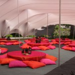 Stretchtent lounge setting
